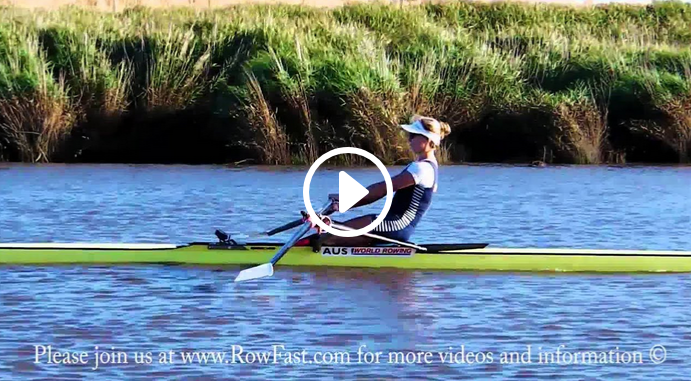 Rowing: the correct position during the recovery.